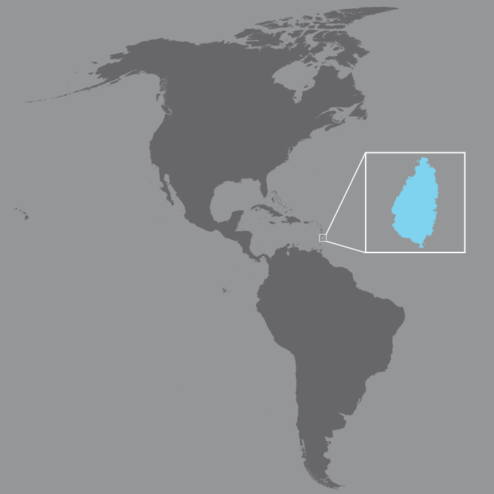 on map of st lucia showing districts