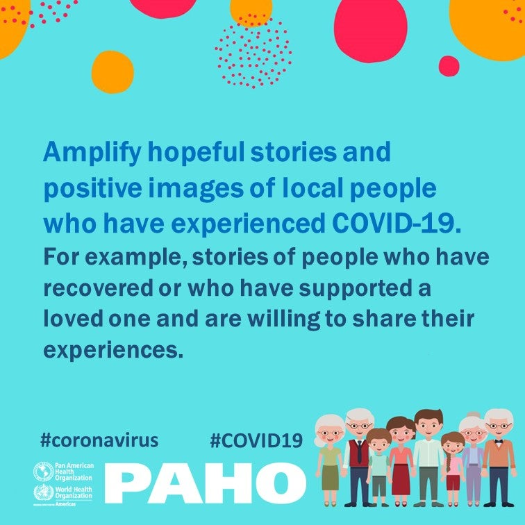 Amplify positive stories