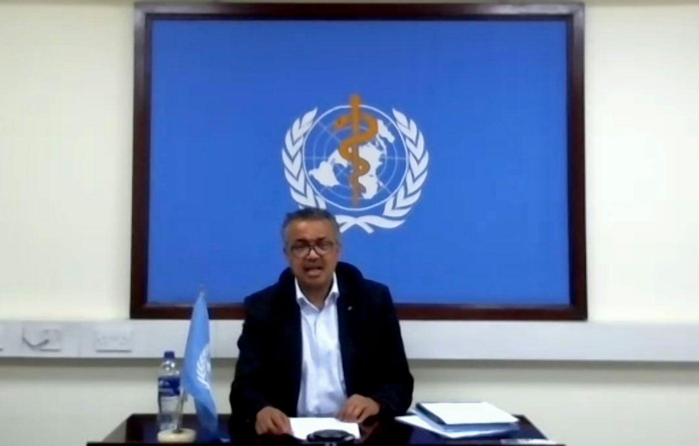 Director General of the World Health Organization (WHO), Tedros Adhanom Ghebreyesus
