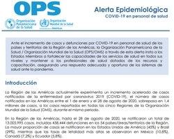 Informes de situación regionales (OPS)