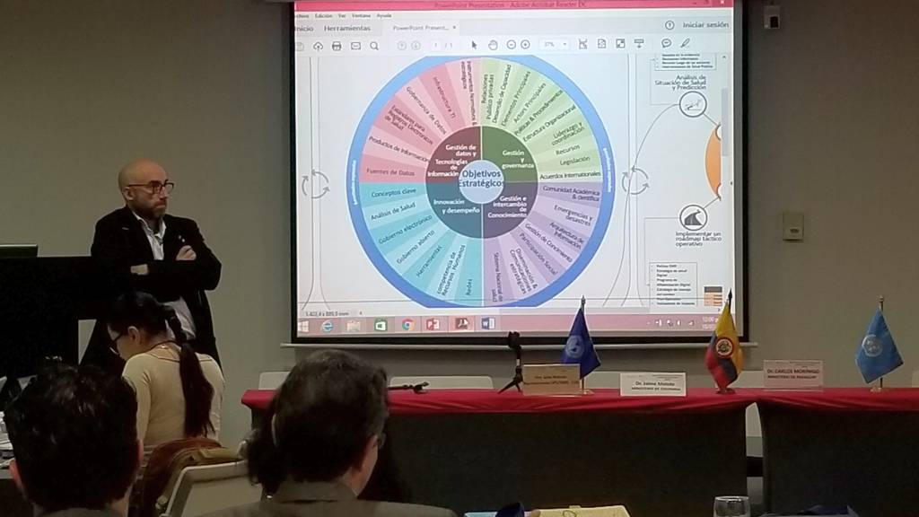 Presentation of the Information Systems for Health (IS4H) Project for the countries of South America. Bogotá, Colombia, July 2018