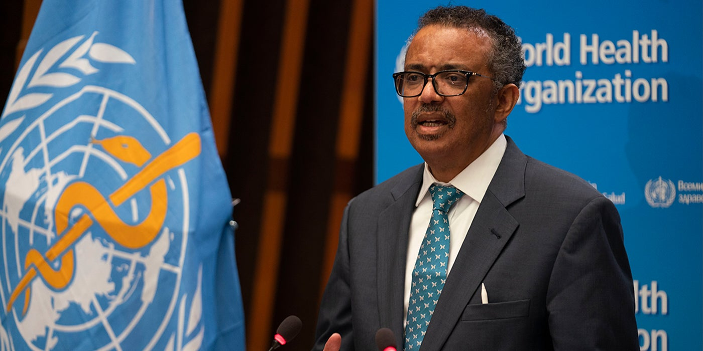 Dr. Tedros at the WHA