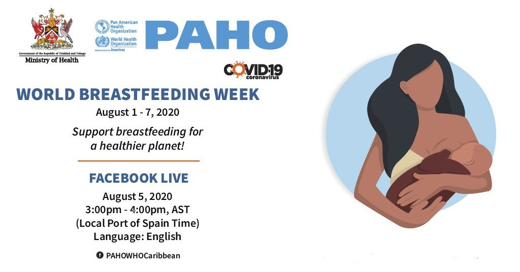 Invitation to Facebook Live on Breastfeeding on 5 August - 3 pm EDT