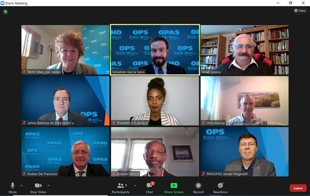 The Pan American Health Organization (PAHO) and the Institute for Health Metrics and Evaluation (IHME) virtual meeting