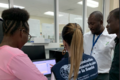 Health workers in Haiti