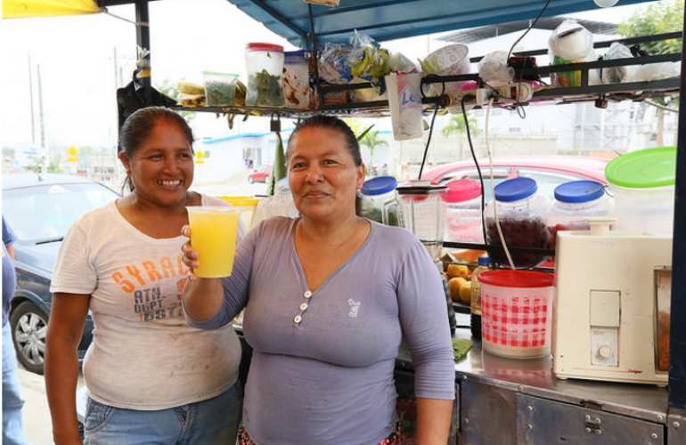 Paquita, From street vendor to health promoter in Ecuador