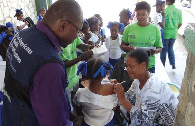 Diphtheria vaccination in Haiti