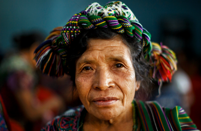 Older woman with headband