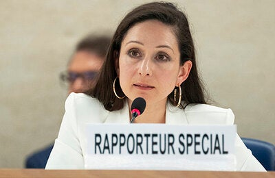 United Nations Special Rapporteur on the Elimination of Discrimination against Persons Affected by Leprosy and their Family Members, Alice Cruz - Visit Brazil