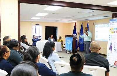 PAHO/WHO Belize briefs members of various organizations on COVID-19
