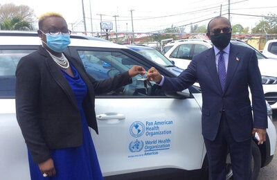 PAHO donation of vehicle to Antigua and Barbuda