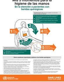 Mis 5 Momentos Para La Higiene De Las Manos En La Atención A Pacientes Con Heridas Quirúrgicas Ops Oms Organización Panamericana De La Salud