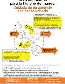 Mis 5 Momentos Para La Higiene De Manos Cuidado De Un Paciente Con Sonda Urinaria Ops Oms Organización Panamericana De La Salud