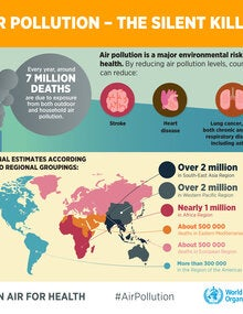Infographic. Air pollution, the silent killer; 2019