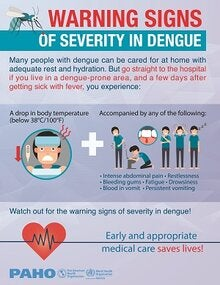 Poster: Warning signs of severity in dengue (JPG version)
