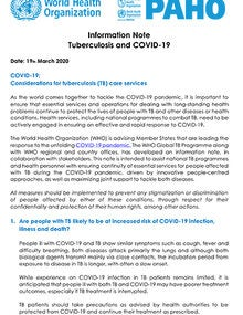 Information Note Tuberculosis and COVID-19