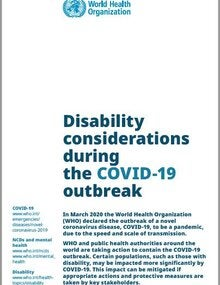 Disability considerations during the COVID-19 outbreak