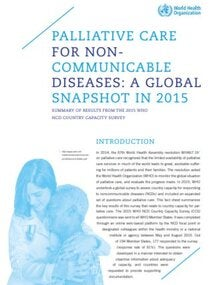 Fact-sheet: Palliative care for noncommunicable diseases: a global snapshot in 2015