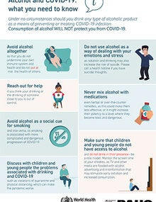 Infographic: Alcohol and COVID-19: what you need to know