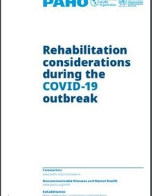 Rehabilitation considerations during the COVID-19 outbreak