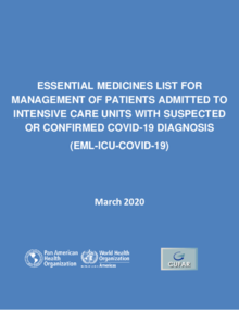 Essential Medicines List for Management of Patients - COVID19