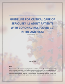 Guidelines for Critical Care of Seriously Ill Adult Patients with COVID-19