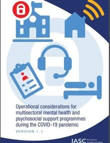 Operational considerations for multisectoral mental health and psychosocial support programmes during the COVID-19 pandemic