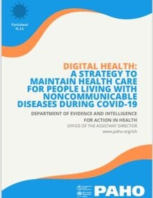 Digital Health: A Strategy to Maintain Health Care for People Living with Noncommunicable Diseases during COVID-19