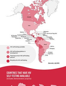Infographic: HIV self-testing map in Latin America and the Caribbean