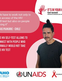 Social Media Postcards: World AIDS Day 2020 - It's in your hands. Get tested - 3