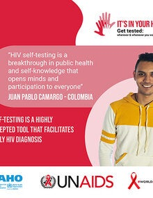 Social Media Postcards: World AIDS Day 2020 - It's in your hands. Get tested - 5