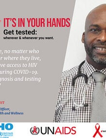 Social Media Postcards: World AIDS Day 2020 - It's in your hands. Get tested  (General)