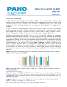 Epidemiological Update: Measles - 1 March 2021