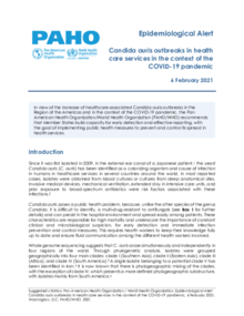 Epidemiological Alert: Candida auris outbreaks in health care services in the context of the COVID-19 pandemic - 6 February 2021
