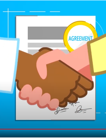A handshake after agreement
