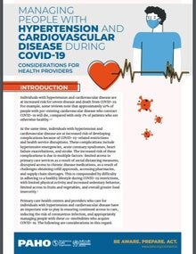 Managing People with Hypertension and Cardiovascular Disease during COVID-19: Considerations for Health Providers, 3 June 2020
