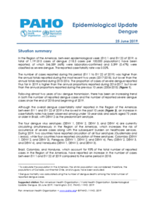 25 June 2019: Dengue - Epidemiological Update