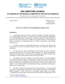 CD54/12 Plan of action on antimicrobial resistance; 2015