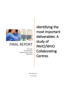Identifying the most important deliverables: A study of PAHO/WHO Collaborating Centres