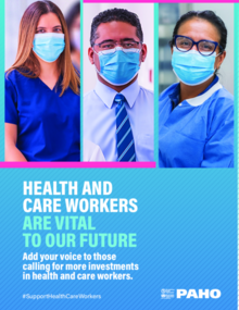 Poster.  Year of Health and Care Workers 2021