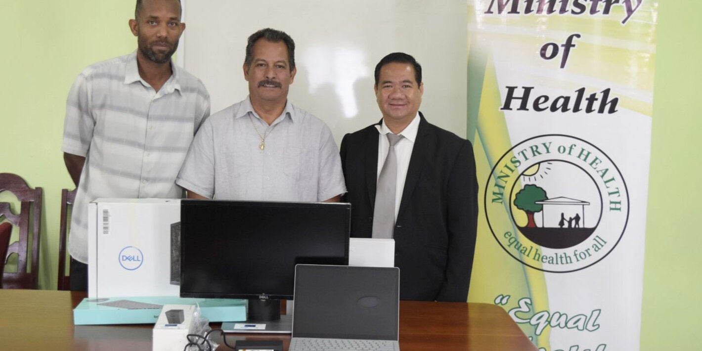 PAHO and EU hand over IT Equipment to the Ministry of Health