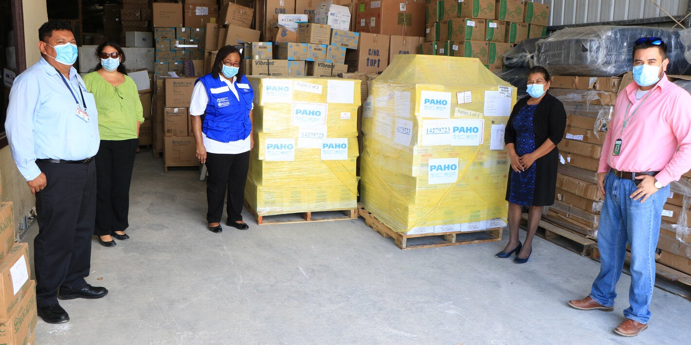 PAHO Belize Donation of PPEs