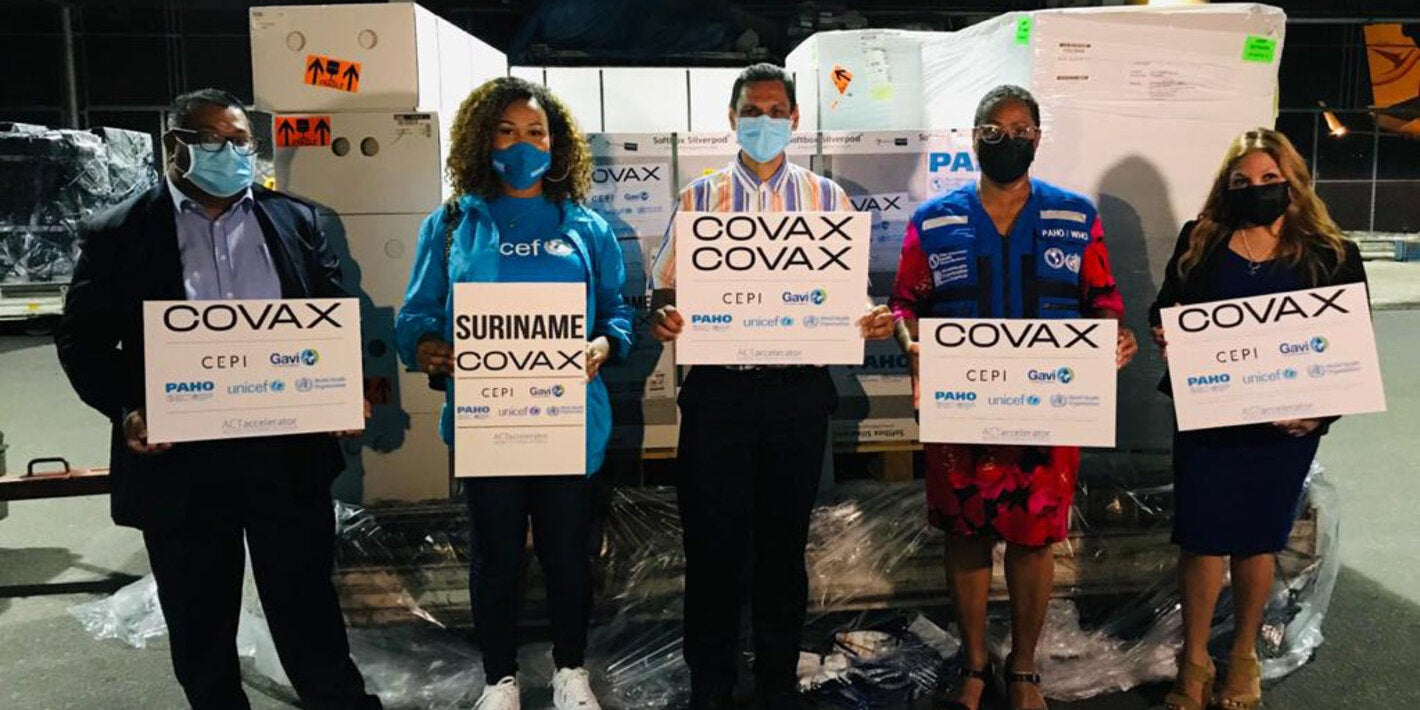 Suriname receives its first COVID-19 vaccines through the COVAX Facility - PAHO/WHO | Pan American Health Organization
