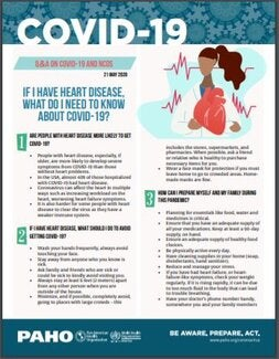 If I have Heart Disease, what do I need to know about COVID-19?