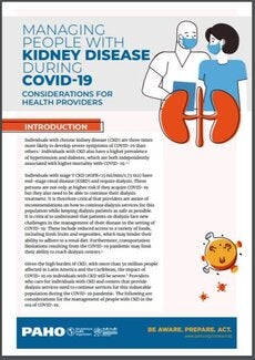 Managing People with Chronic Kidney Disease during COVID-19: Considerations for Health Providers, 3 June 2020