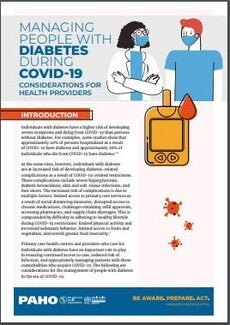 Managing People with Diabetes during the COVID-19 Pandemic: Considerations for Health Providers, 3 June 2020