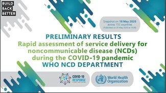 Rapid assessment of service delivery for NCDs during the COVID-19 pandemic