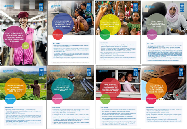 Mosaic with 8 of the covers of the policy briefs