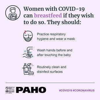 Tips to breastfeed for women with COVID-19