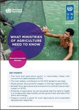 WHAT MINISTRIES OF AGRICULTURE NEED TO KNOW